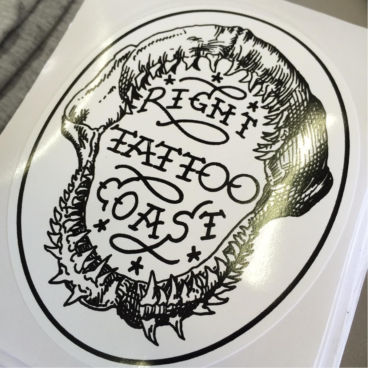 Sticker Printing | Right Coast Tattoo