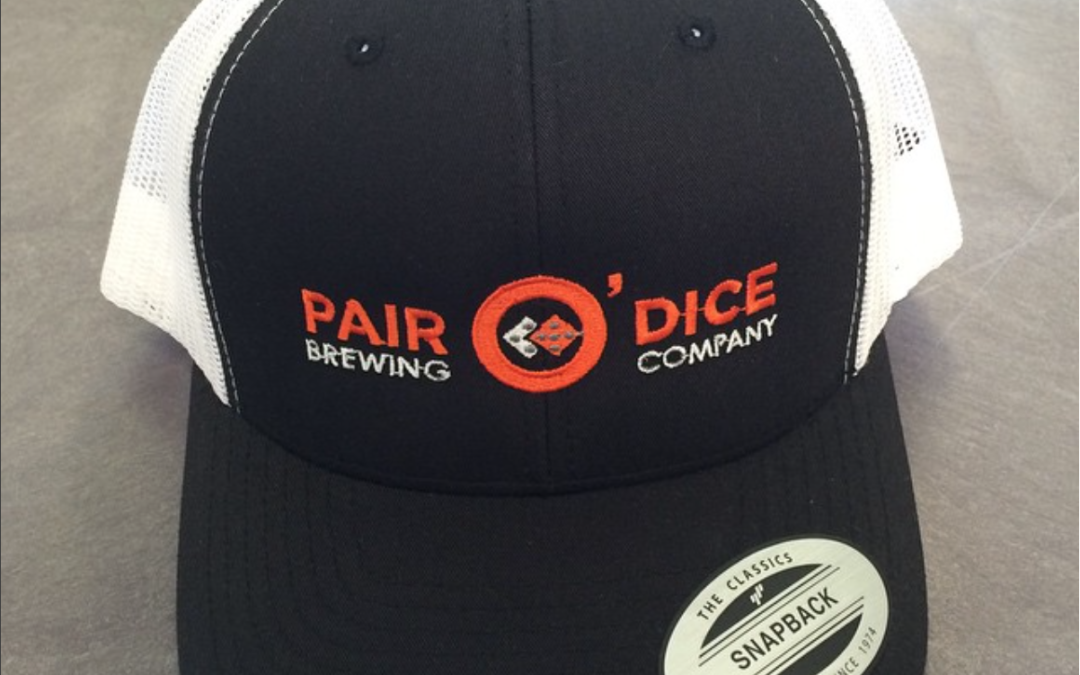 Hat Embroidery | Pair O' Dice Brewing